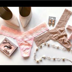 Bundle of 2 NWT Victoria Secrets Thong Panties OS
